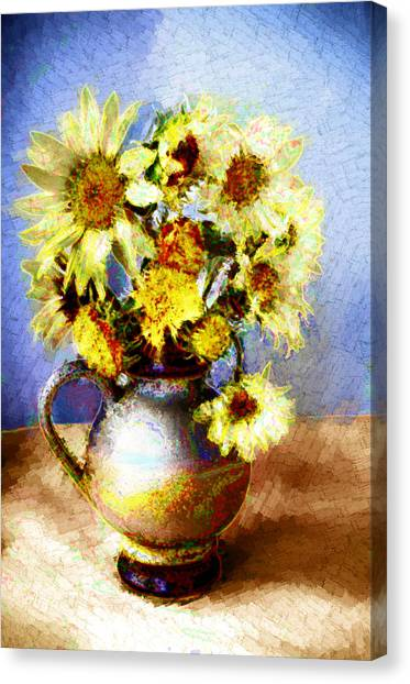 Sunflowers Canvas Print by Heiko Mahr