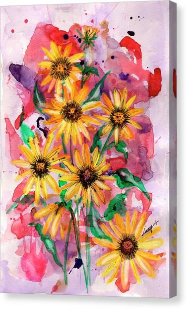 Sunflowers Canvas Print by Linda Palmer