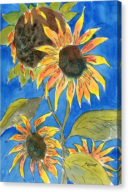 Sunflowers Canvas Print - Sunflowers by Marsha Elliott
