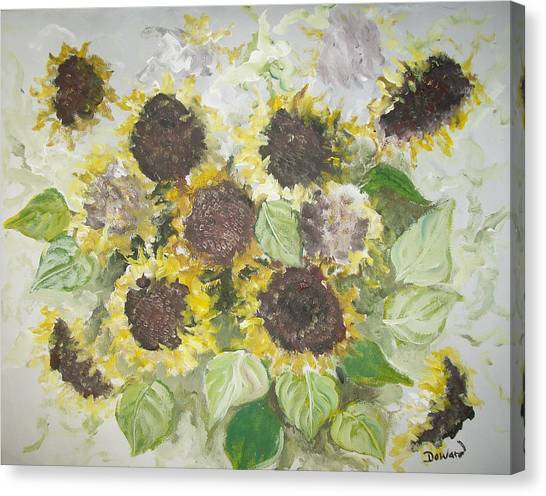 Sunflowers Profile Canvas Print