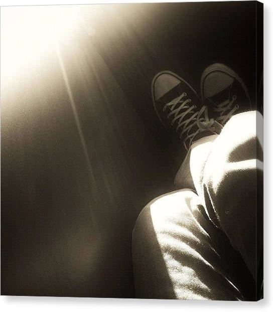 Hips Canvas Print - Sunlight & Shoes! #sun #light #artsy by Loghan Call