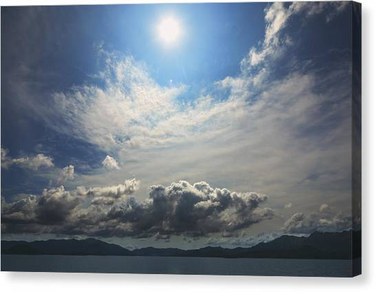 Sunlight And Cloud Canvas Print