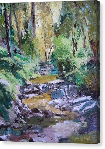 Sunlit Woodlands Canvas Print