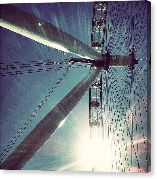 London Canvas Print - Sunnd Day In London, London Eye by Abdelrahman Alawwad