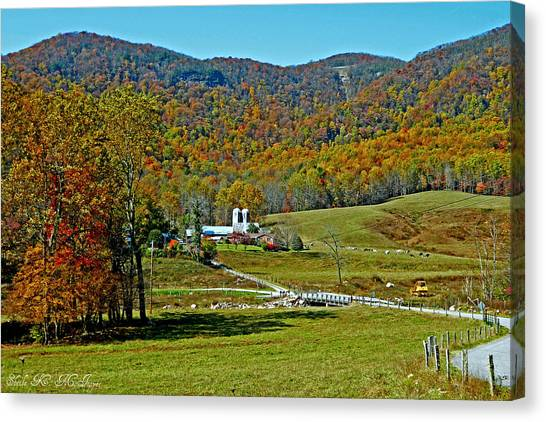 Sunny Day At The Blue Ridge Parkway Canvas Print