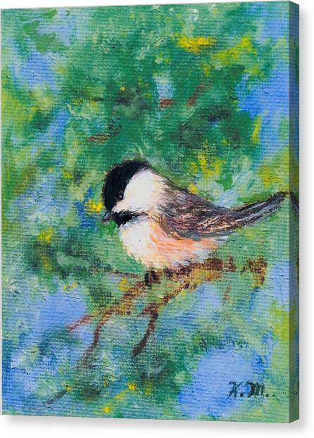 Sunny Day Chickadee - Bird 2 Canvas Print