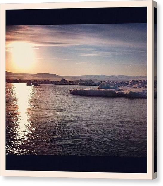 Glaciers Canvas Print - Sunny Side Up - Jokulsarlon Glacier Lagoon by Joshua Samuel