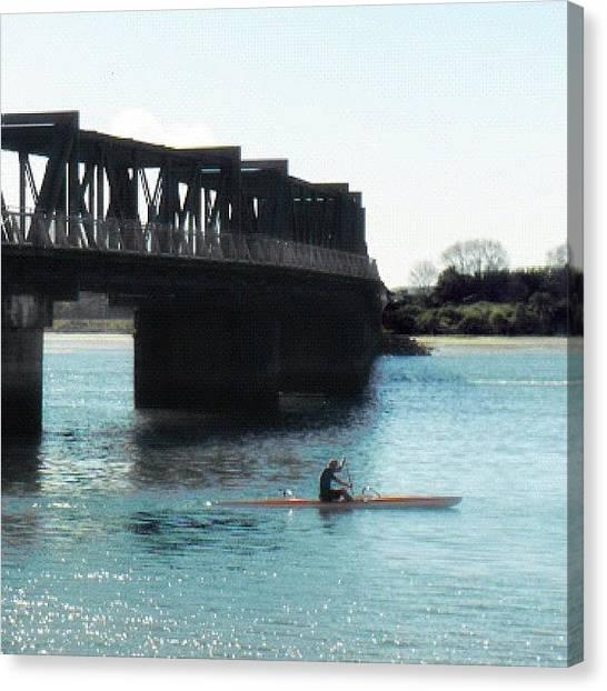 Kayaks Canvas Print - Sunny Tauranga by Fernanda Fontenelle
