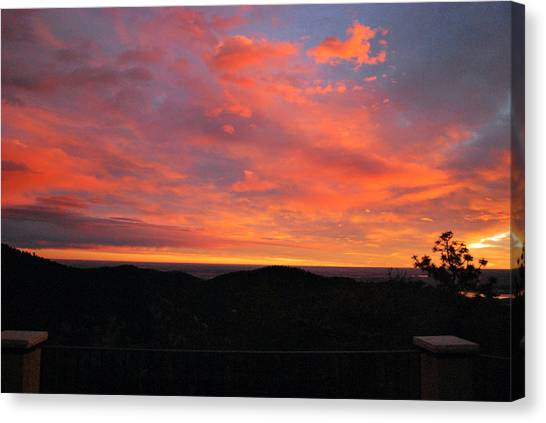 Sunrise Above Boulder-photo Canvas Print