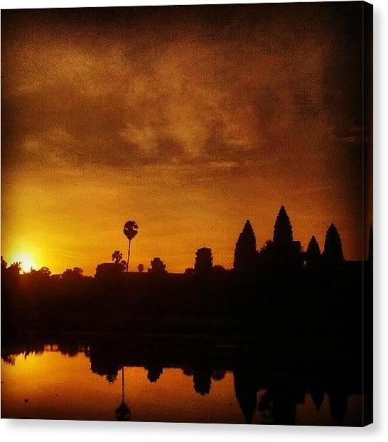 Temples Canvas Print - Sunrise Angkor Wat by Richard Gurney