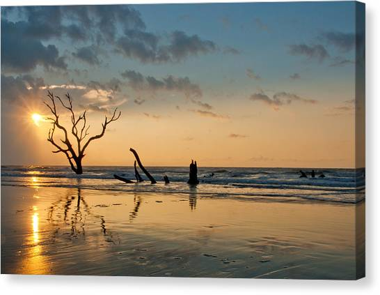 Sunrise At Bone Yard Beach Canvas Print