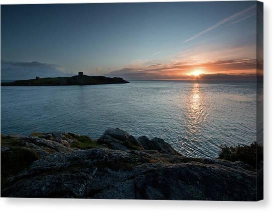Sunrise At Dalkey Island Canvas Print