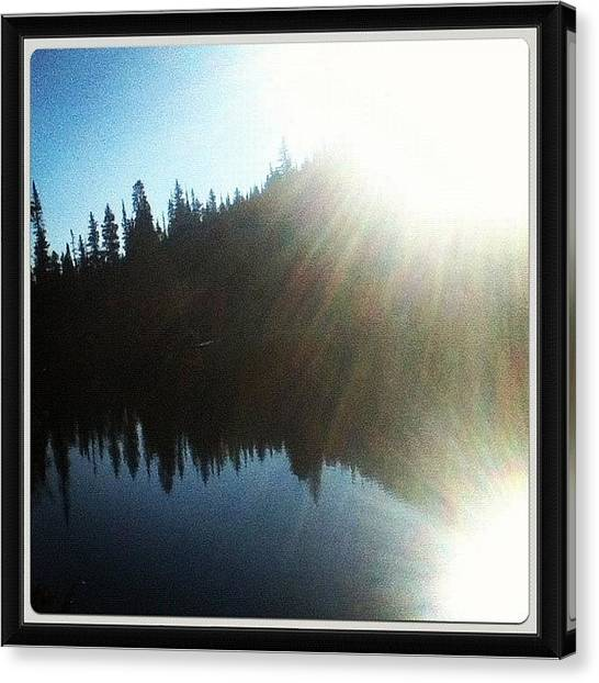 Rocky Mountains Canvas Print - #sunrise At #fern #lake, #rocky by James Sibert