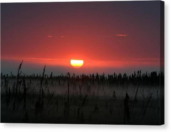 Sunrise At Kenai Peninsula Canvas Print by Mary Gaines