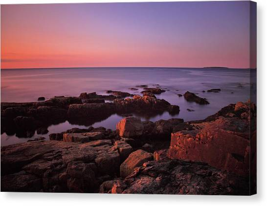 Otters Canvas Print - Sunrise At Otter Point by Rick Berk