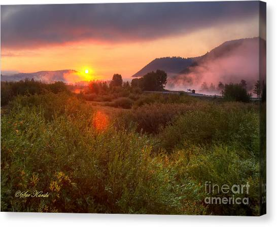 Sunrise At Snake River Canvas Print
