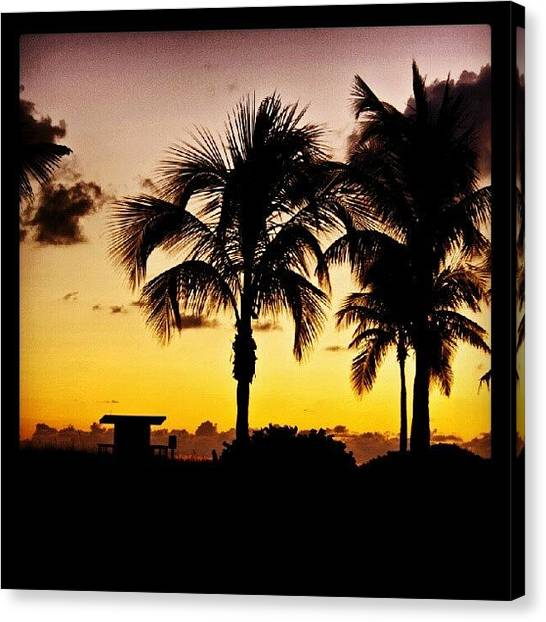 Beach Sunrises Canvas Print - Sunrise At South Beach. #southbeach by Troy Thomas