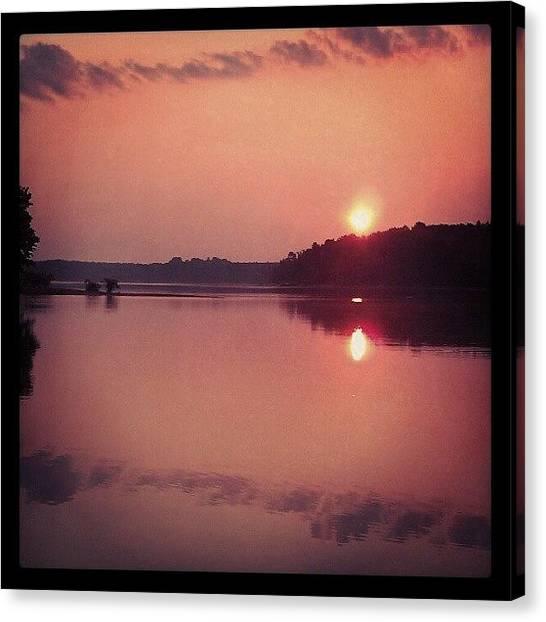 Lake Sunrises Canvas Print - Sunrise At The Lake by Juliet Schwab