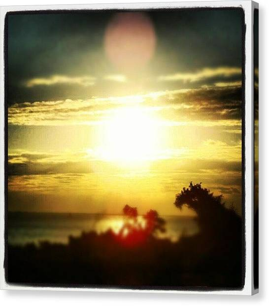Beach Sunrises Canvas Print - #sunrise #beach #caswellbeach # Morning by Virginia Lockman