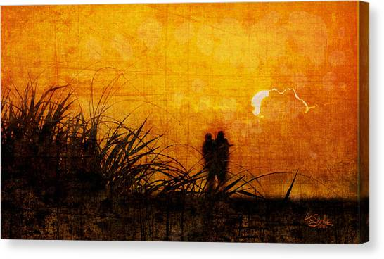 Sunrise Couple Canvas Print