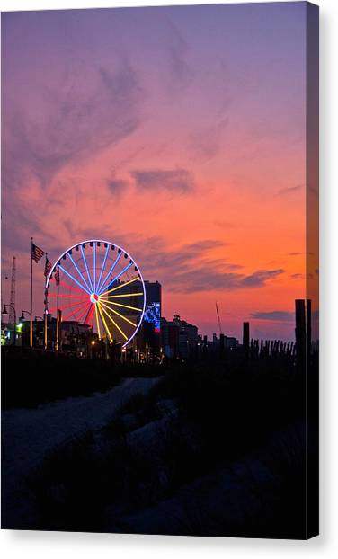 Sunrise Ferris Wheel Canvas Print