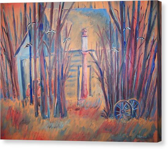 Sunrise Garage Canvas Print