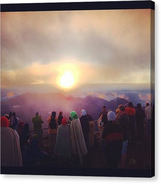 Volcanoes Canvas Print - #sunrise #hawaii #haleakala #maui by Ankur Agarwal