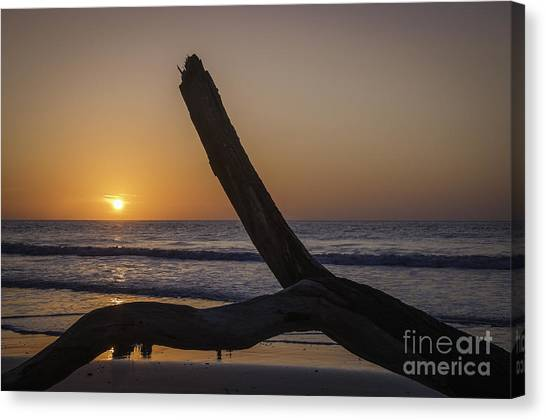 Sunrise Hunting Island Canvas Print