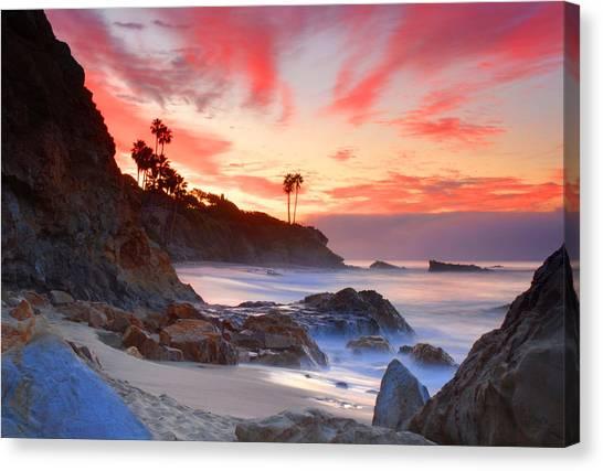 Sunrise In Laguna Beach Canvas Print