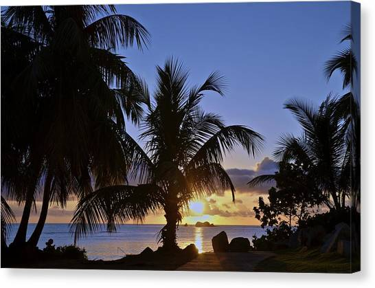 Sunrise In Paradise Canvas Print by Nancy Rohrig