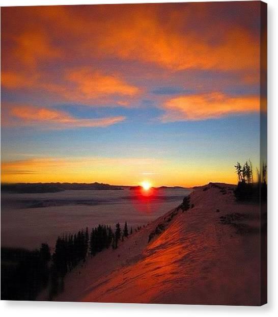 Tetons Canvas Print - Sunrise On Glory Mountain Dec 2011 by Niels Rasmussen