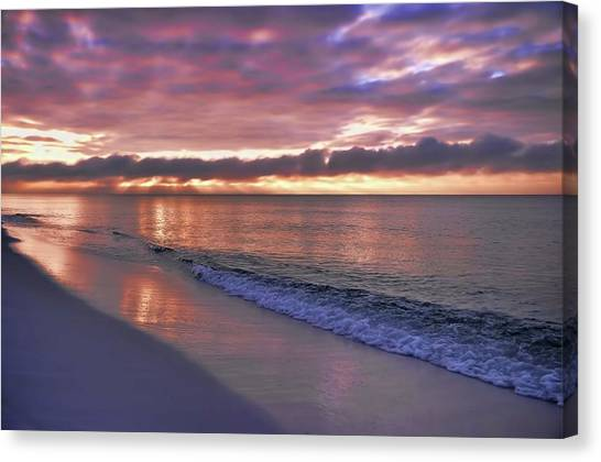Sunrise On Navarre Beach Canvas Print