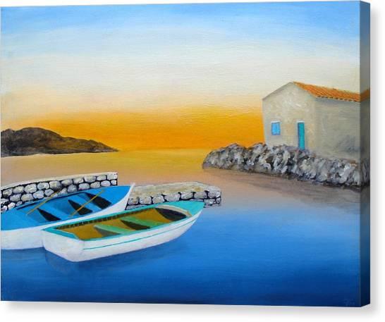 Sunrise On The Adriatic Canvas Print