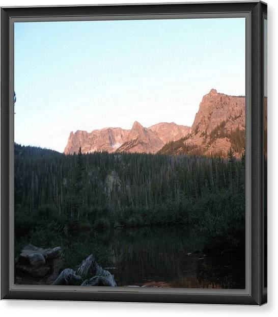 Rocky Mountains Canvas Print - #sunrise On The #gable, #fern #lake by James Sibert