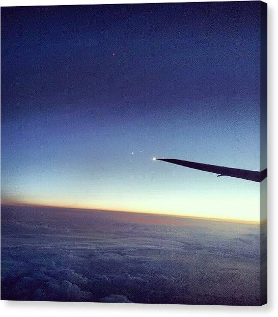 Sunrise Horizon Canvas Print - Sunrise On The Plane #sunrise #horizon by Jake Delmonte