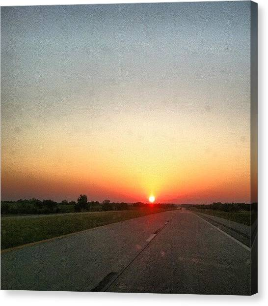 Oklahoma Canvas Print - Sunrise On The Southern Plains Of by David Hayden