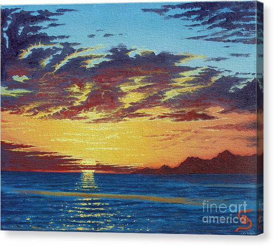 Sunrise Over Gonzaga Bay Canvas Print