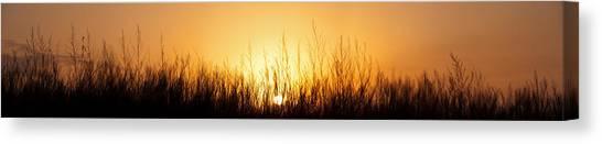 Prairie Sunrises Canvas Print - Sunrise Over Nachusa Grasslands by Steve Gadomski