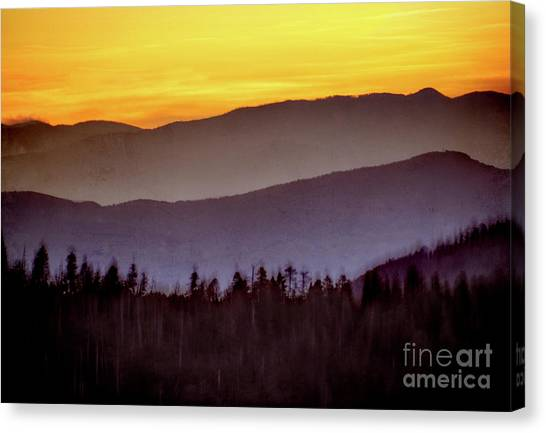 Van Goughs Ear Canvas Print - Sunrise Ridges by Arne Hansen