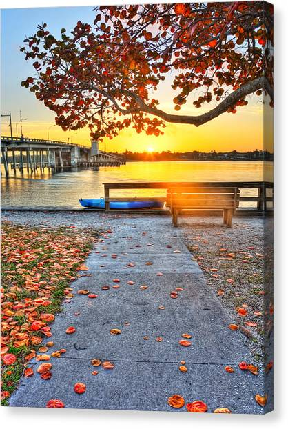 Sunrise Seista Drive2  Canvas Print by Jenny Ellen Photography