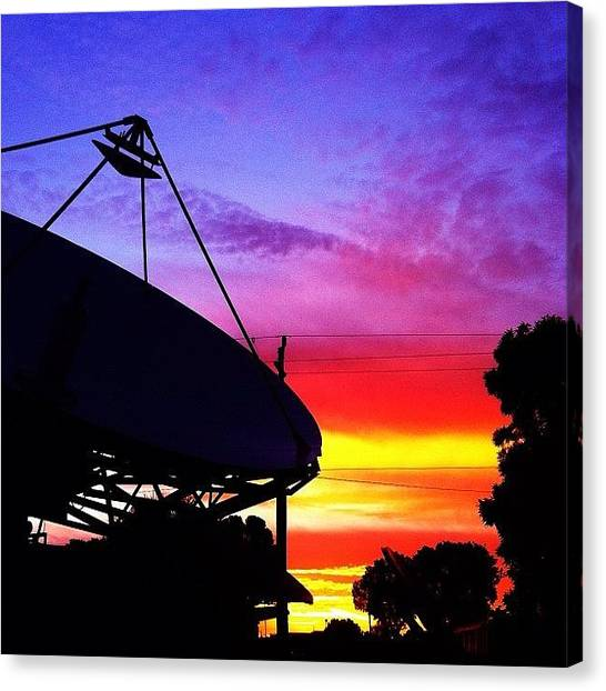 Satellite Canvas Print - #sunrise #swfl #satellite by Rebecca Mitchell