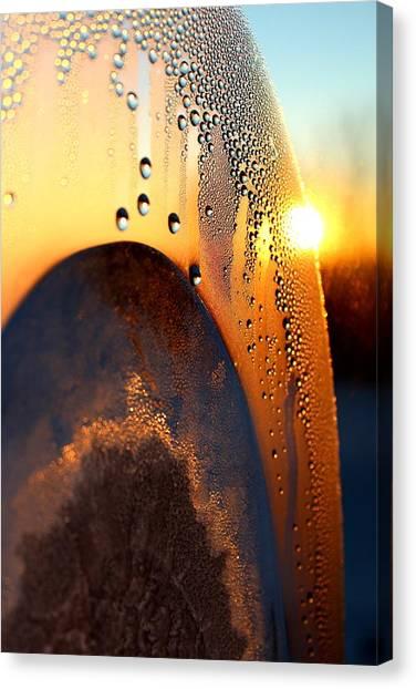 Sunrise Thru Ice Canvas Print