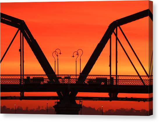 Sunrise Walnut Street Bridge Canvas Print