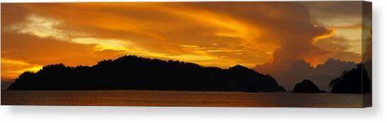 Sunscape Panorama  Curu National Wildlife Park Costa Rica Panorama Canvas Print