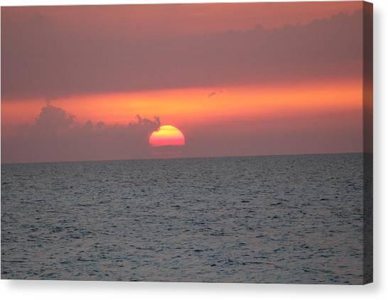 Sunset - Cuba Canvas Print by David Grant