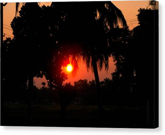 Sunset 4 Canvas Print by Johnson Moya