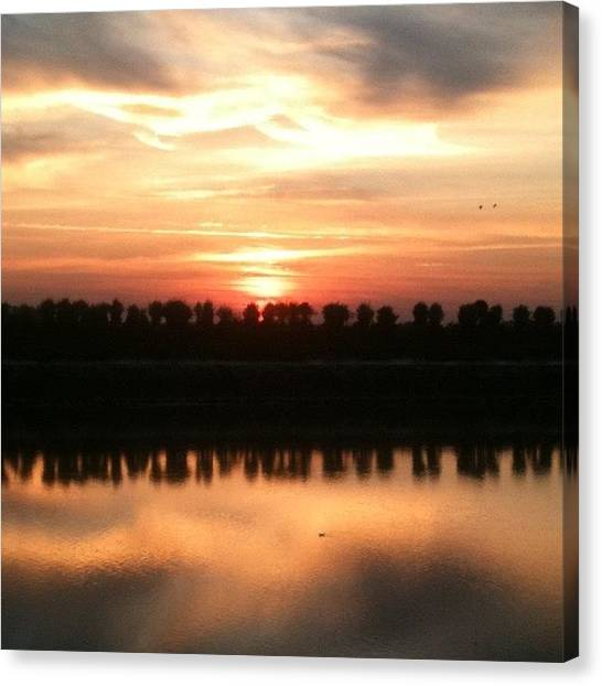 Norfolk Canvas Print - Sunset Across The River - No Filter by Just Berns