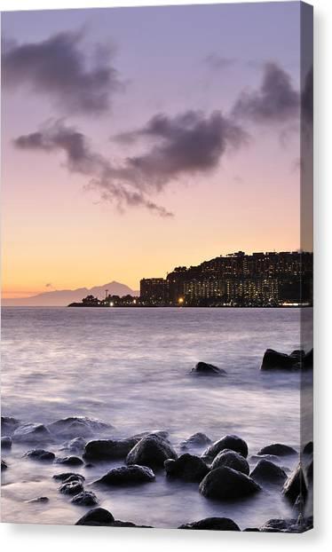 Sunset At Arguineguin Canvas Print by Cristo Bolanos