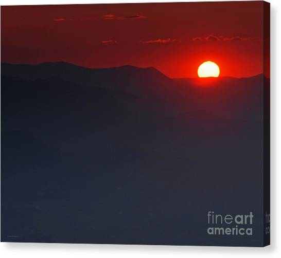 Sunset At Brasstown Bald Canvas Print