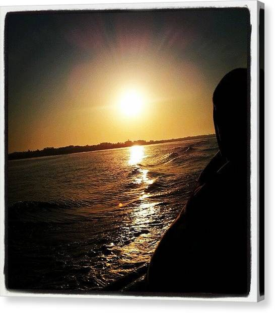 South Africa Canvas Print - Sunset At Capetown by Sachi Kumar